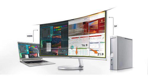 Monitor pantalla curvo 34 4k 3440x 1440 samsung 60hz hdmi