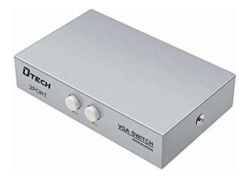 Puertos Vga Switch Box Pc In Monitor Out Proyector L...