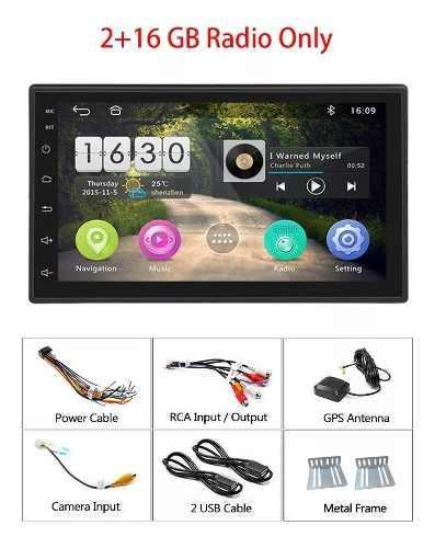 Radio Carro Android Pantalla 2 Din Wifi Gps 2 Ram Cámara