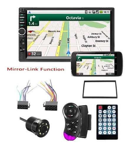 Radio Pantalla Carro Tactil Bluetooth Mirror Link + Camara