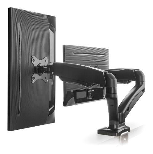Soporte brazo monitor para 2 pantallas lcd led escritorio