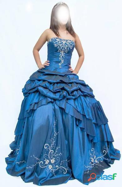 Vestido de mujer azul noche ref: ref 1915 para 15 años   convertible