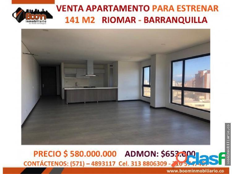 *venta apartamento 141 m2 riomar barranquilla
