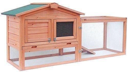 Aleko accrh62x23x30 casa de madera para mascotas chicken coo