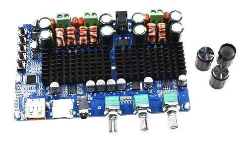 Amplificador digital 2.1 200w bluetooth usb aux ecualizador