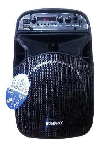 Cabina activa sonivox profesional 6.5 + microfono y control