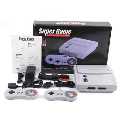 Consola de juegos super game 16bit sfc snes 64 juegos