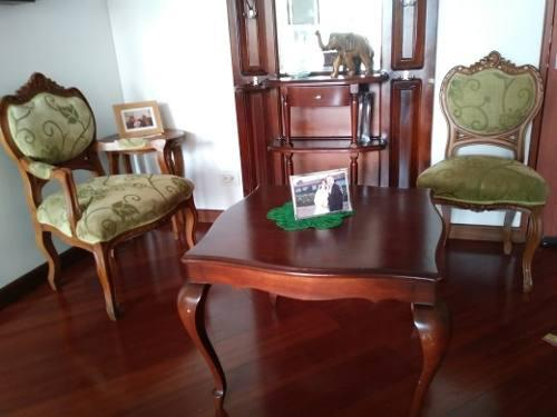 Juego de sala luis xv sofa, mesas consola, poltrona y sillas