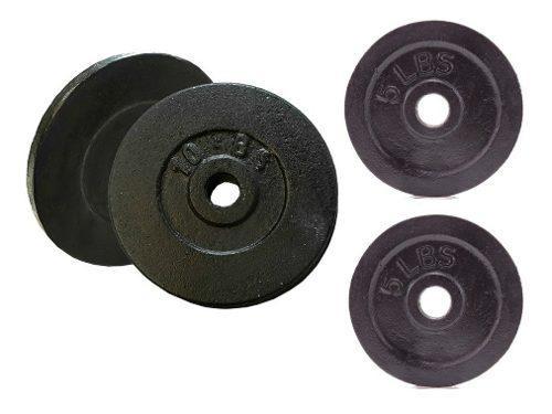 Set kit 4 discos por 30 lb para pesas barras-mancuernas gym