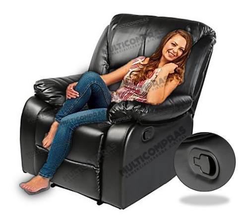 Sillón descanso reclinable posiciones apartamento casa -d