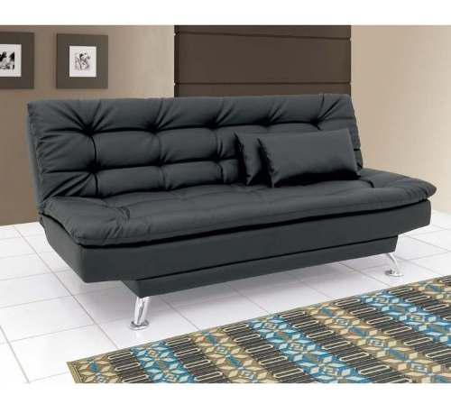 Sofá cama clic clac negro semidoble 3 posicion + 2