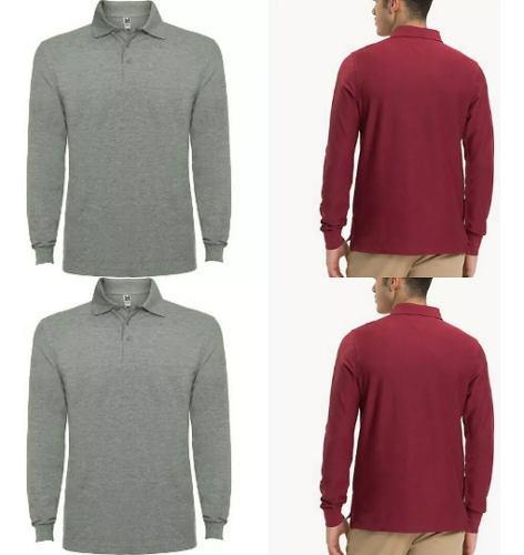 2 camisetas tipo polo manga larga camibuso envío gratis