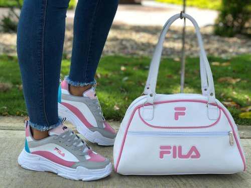 Combo,zapatos mujer,bolso mujer,tenis mujer,tipo fila