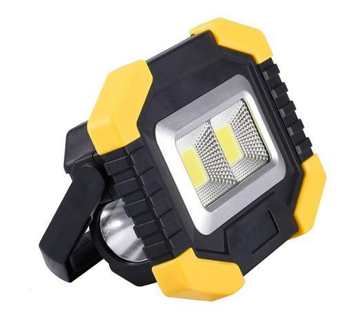 Lampara trabajo solar linterna tipo reflector recargable