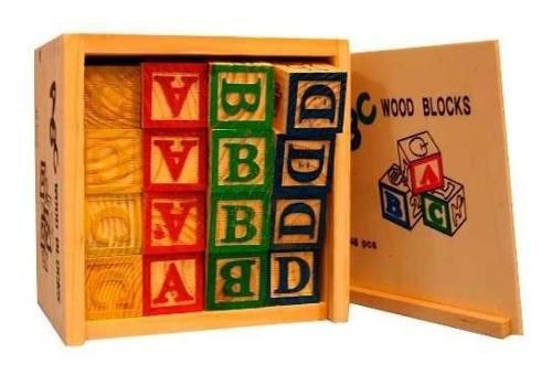 48 Cubos Madera Juegos Didácticos Niños Abecedario Numeros