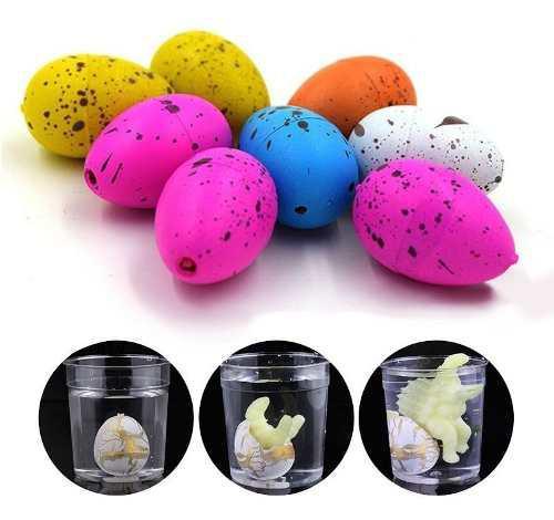 Huevos dinosaurio x4 nacen y crecen con agua juguete expande