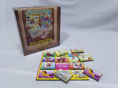 Lotería didáctica infantil bilingüe madera 5 t 60 f