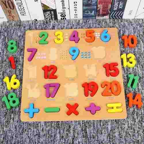 Tabla números español inglés didacticos montessori
