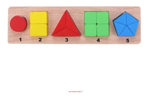 Tablero de figuras geometricas para niños