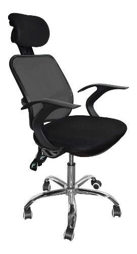 Silla de oficina computo giratoria comoda negra