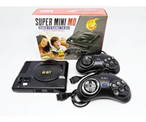 Consola retro super mini md con 208 juegos de sega.