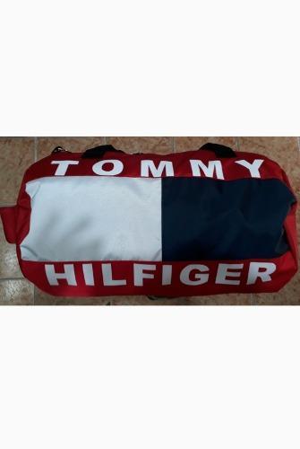 Maletin para viaje tommy hilfiger mochila bolso carriel rojo