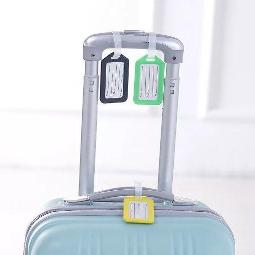 Rotulo etiqueta identificador de maleta de viaje equipaje x2