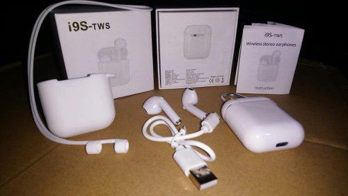 Audifono tipo air pods i9s tws + silicona + caja power bank
