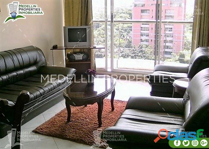Arriendo apartamentos amoblados medellin por meses cód: 4050