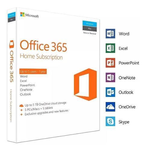 Office 365 Licencia Original 5 Pc's Mac's O Tablets