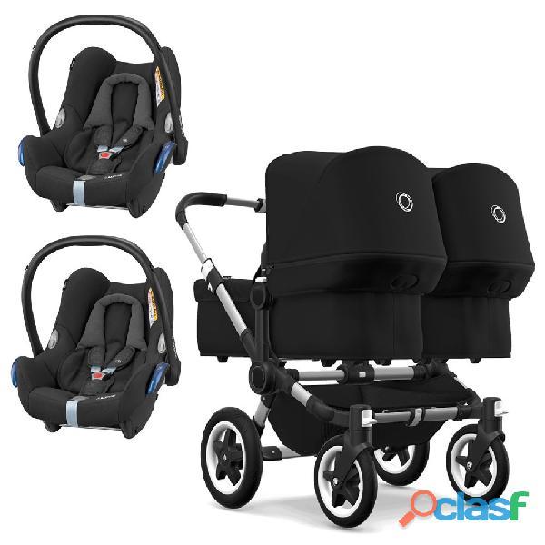 Bugaboo Donkey 2 Twin con Maxi Cosi CabrioFix 3