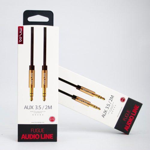 Cable Auxiliar De Audio - 3.5mm - 2mtrs - Mizoo P01