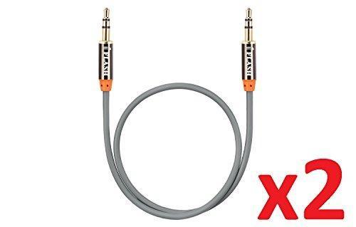 Paquete 2 Iflash Cable Audio Auxiliar 35mm 1ft 03m Cable Aux