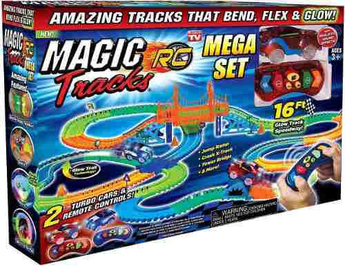 Pista magic tracks mega rc 2 carros 320 piezas + envío hoy!
