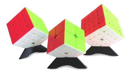 Rubik colombia qiyi pack 3 cubos 2x2, 4x4 y 5x5 speedcube