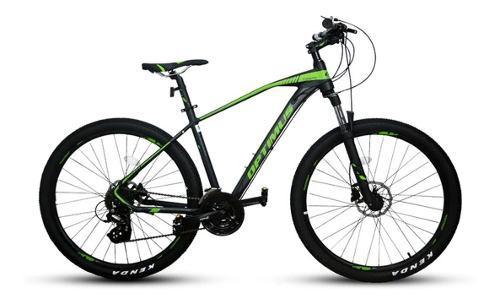Bicicleta optimus tucana shimano 9v altus m2000 susp xcm hid
