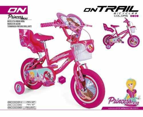 Bicicleta para niñas rin 16 ontrail princesas amore