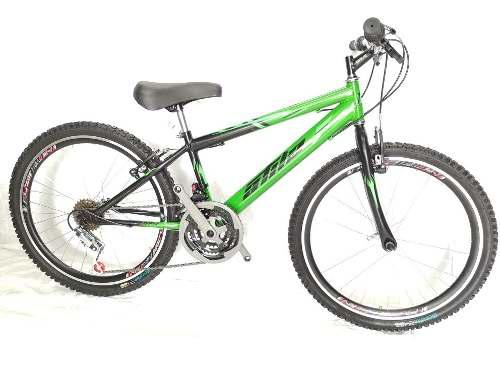 Bicicleta todo terreno rin24 en acero, 18 vel. aro d/p