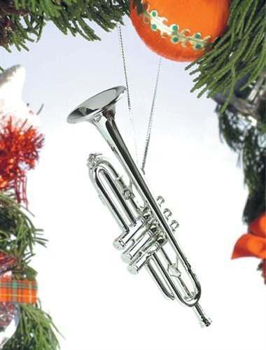 Plata Musica Trompeta Instrumento Musical Ornamento Nuevo