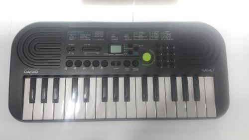 Teclado organeta casio para niño sa-47 +adaptador expomusic