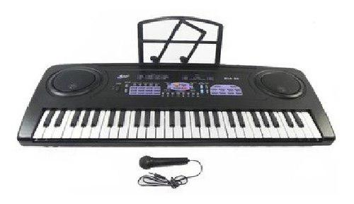 Teclado piano electrico microfono grabacion mls - 318
