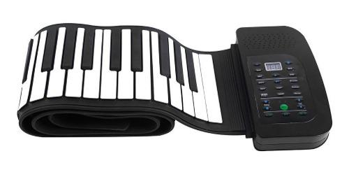Portátil 88 teclas silicona flexible roll up piano tec...