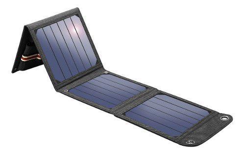 Cargador panel solar portátil suaoki 14w, entrega inmediata