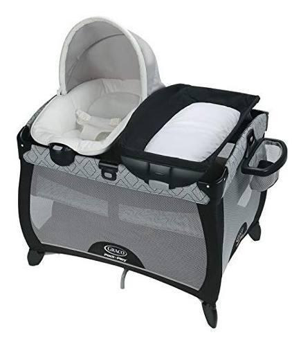 Cuna corral bebe graco asher moises con panel de vibración