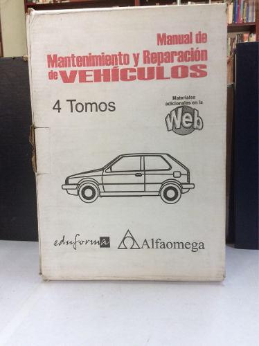 Manual de mantenimiento y reparación de vehículos. iv