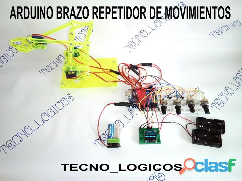 Arduino brazo robotico repetidor de movimientos