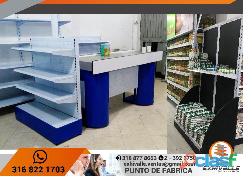 Estanterias para supermercados, farmacias, ferreterias