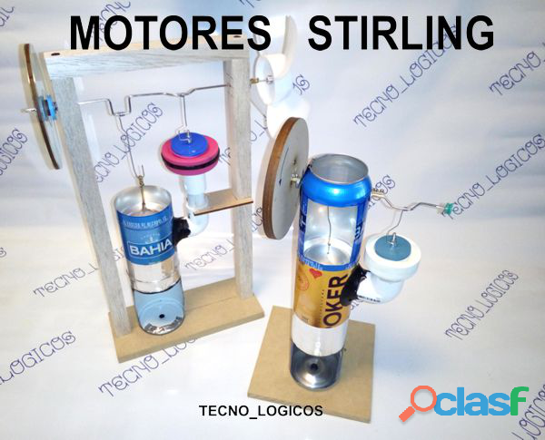 Motor stirling tipo lata