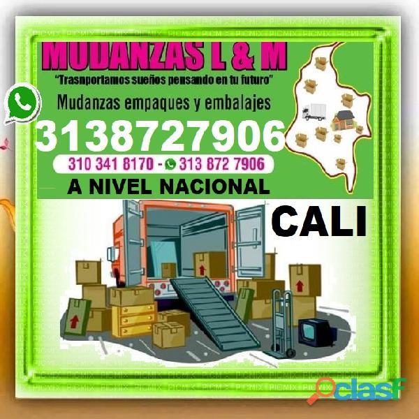 ⭐ MUDANZAS CALI, TRASTEOS, A Nivel Nacional, Empaque, Embalaje, Camion, Camioneta, Varias Toneladas.
