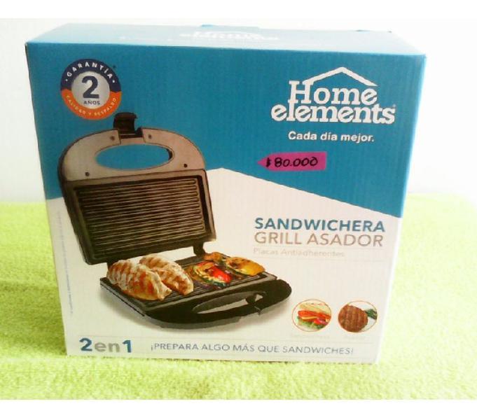 Grill Asador- sandwichera Home elements